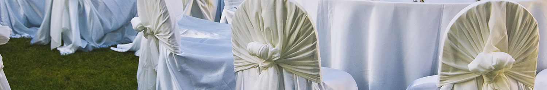 Noleggio tovaglia raso/cotone cm.330x230 avorio perlato per Catering