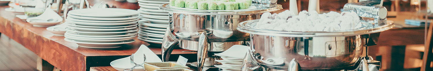 Noleggio chafing dishes deluxe per Catering