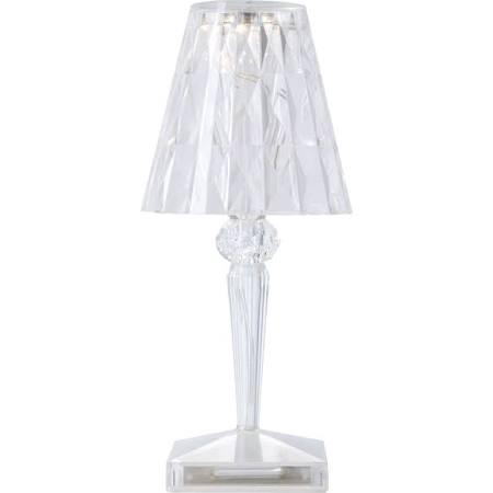 Noleggio Lampada da tavolo Battery Cristallo Kartell