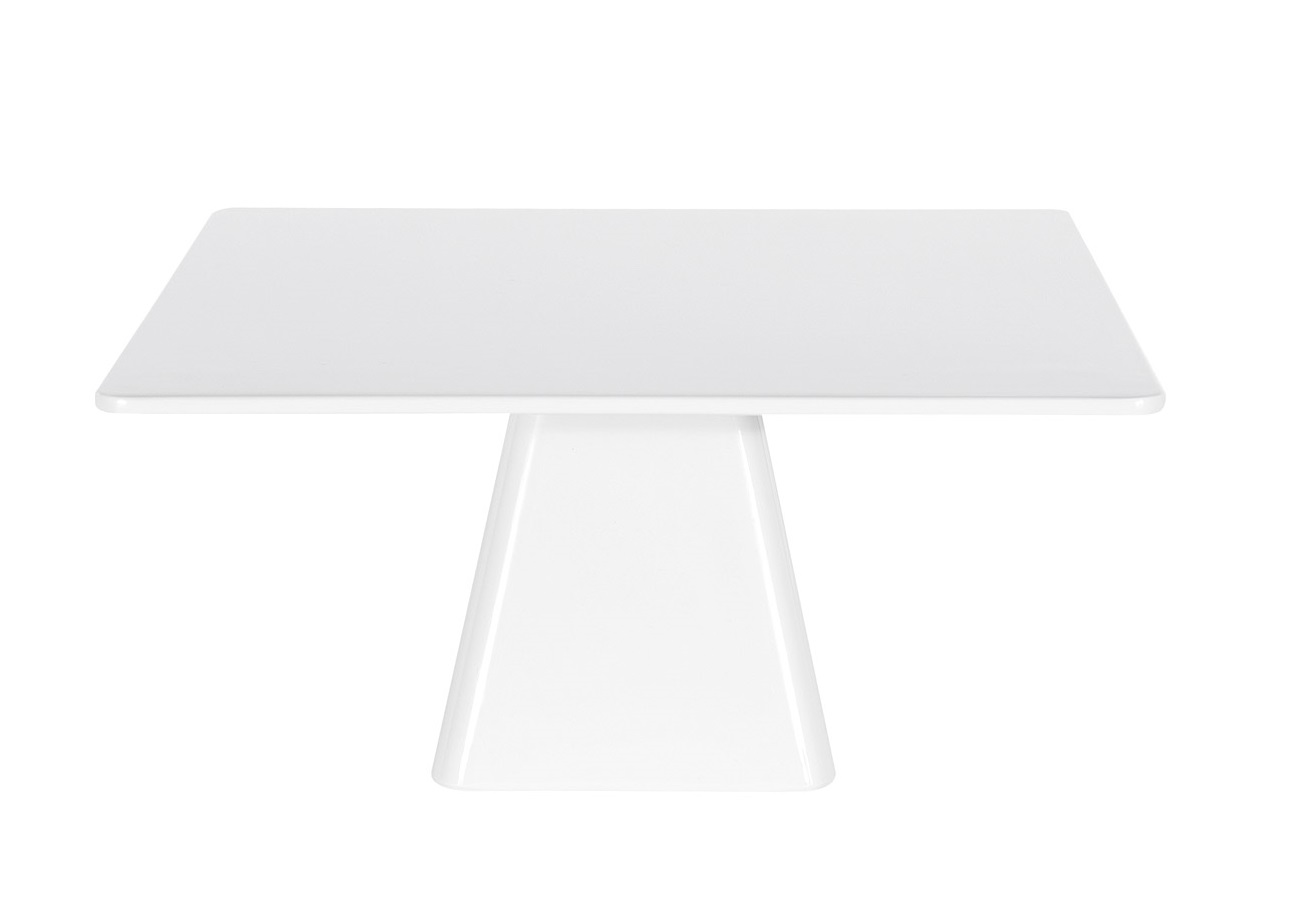 Noleggio Alzata Quadrata Bianca cm.35x35