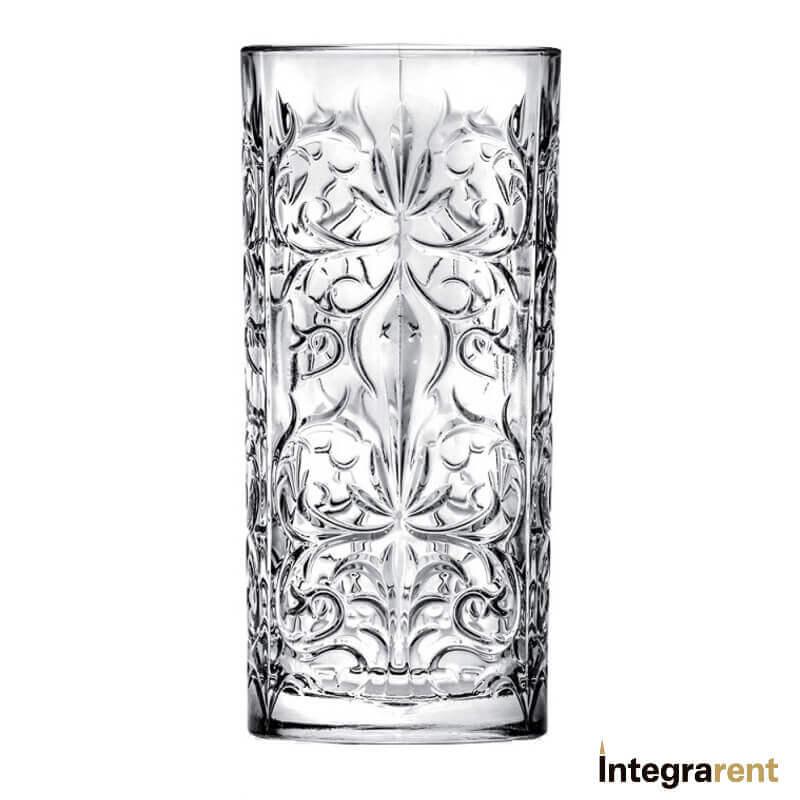 Noleggio Bicchiere Long Drink Cristallo Tattoo