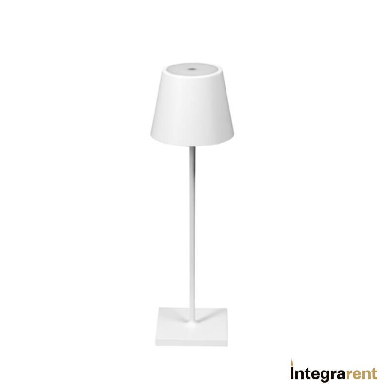 Noleggio Lampada da Tavolo Poldina Bianca