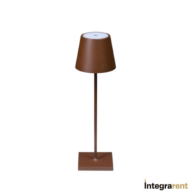 Noleggio Lampada da Tavolo Poldina Corten