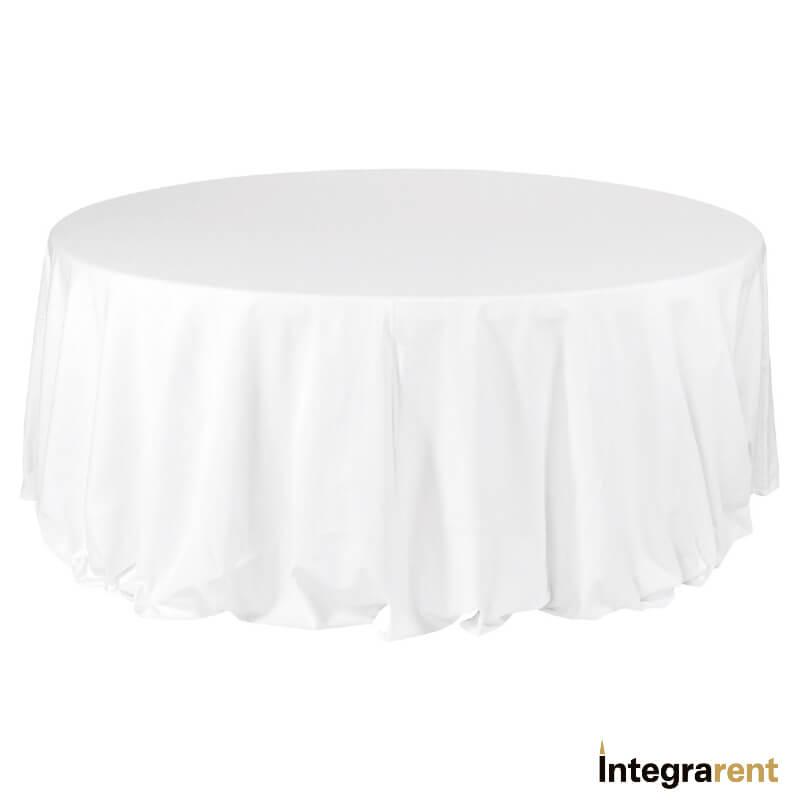 Noleggio Tovaglia Cotone Cannetè Ø cm.330 Bianco