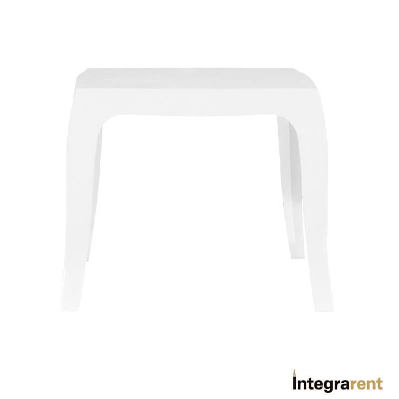Noleggio Tavolino Polipropilene Bianco