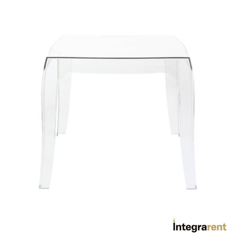 Noleggio Tavolino Polipropilene Trasparente