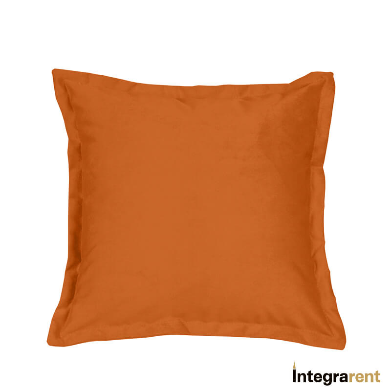 Noleggio Cuscino in Velluto Arancione