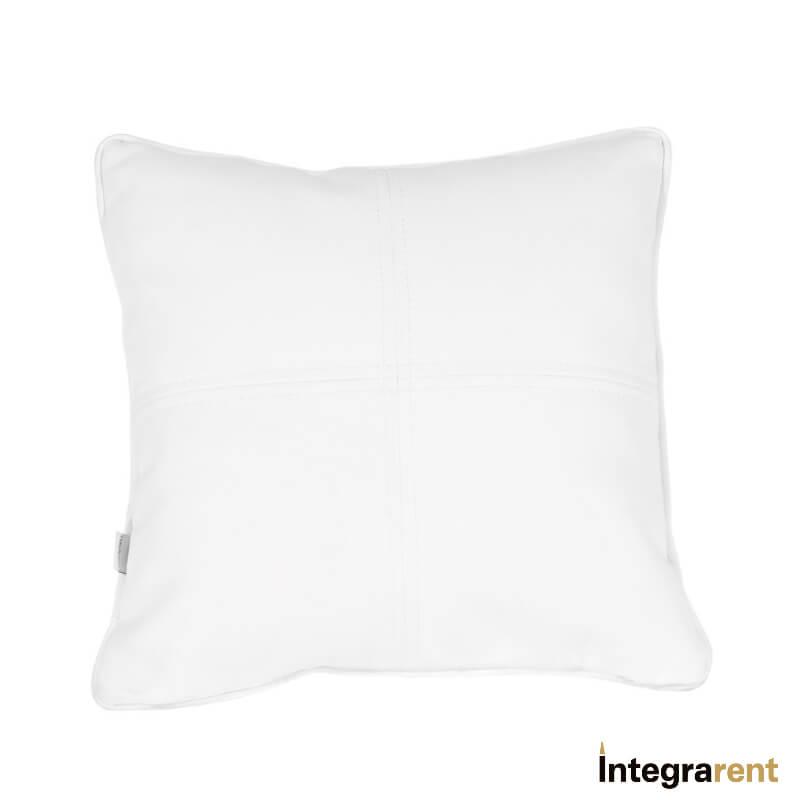 Noleggio Cuscino in Pelle Bianco
