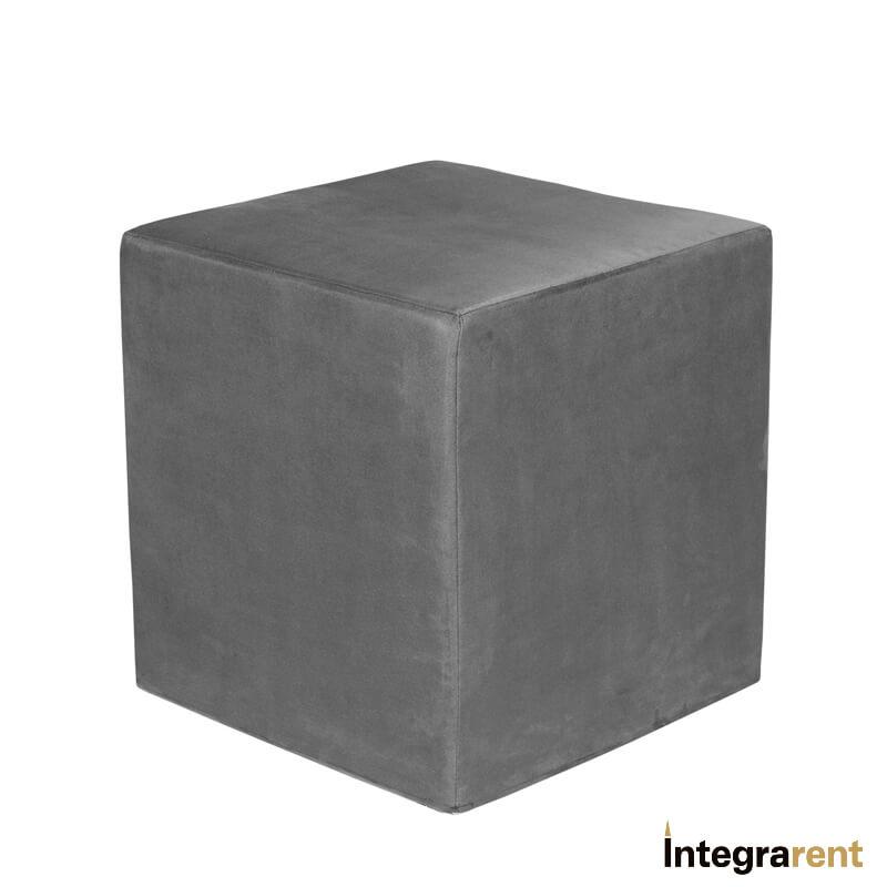 Noleggio Pouf Cubo in Velluto Grigio Antracite