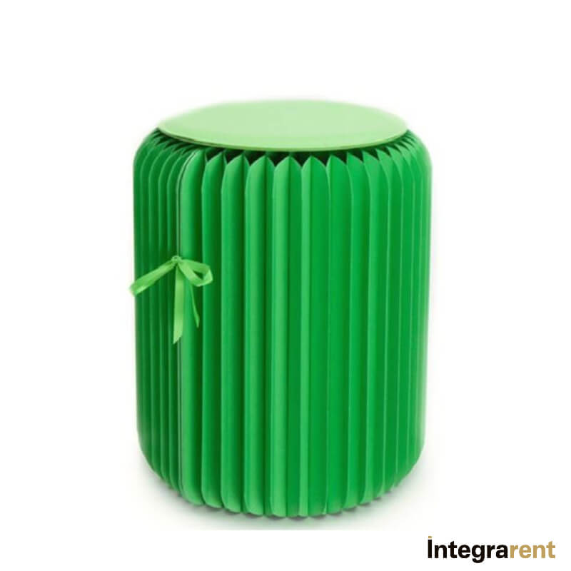 Noleggio Pouf Tondo Paper Green