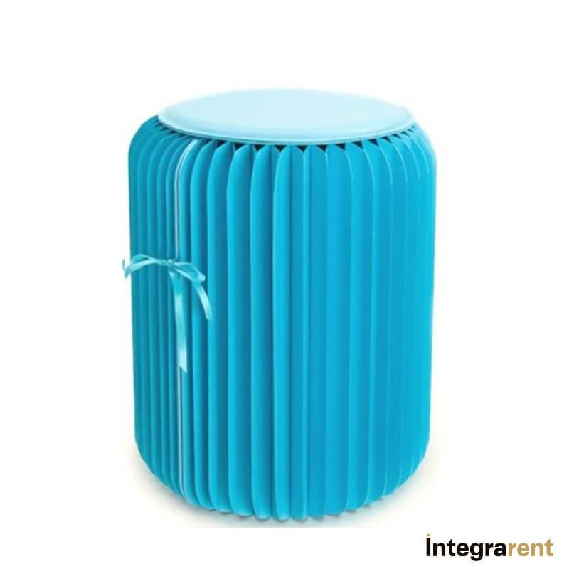 Noleggio Pouf Tondo Paper Blue