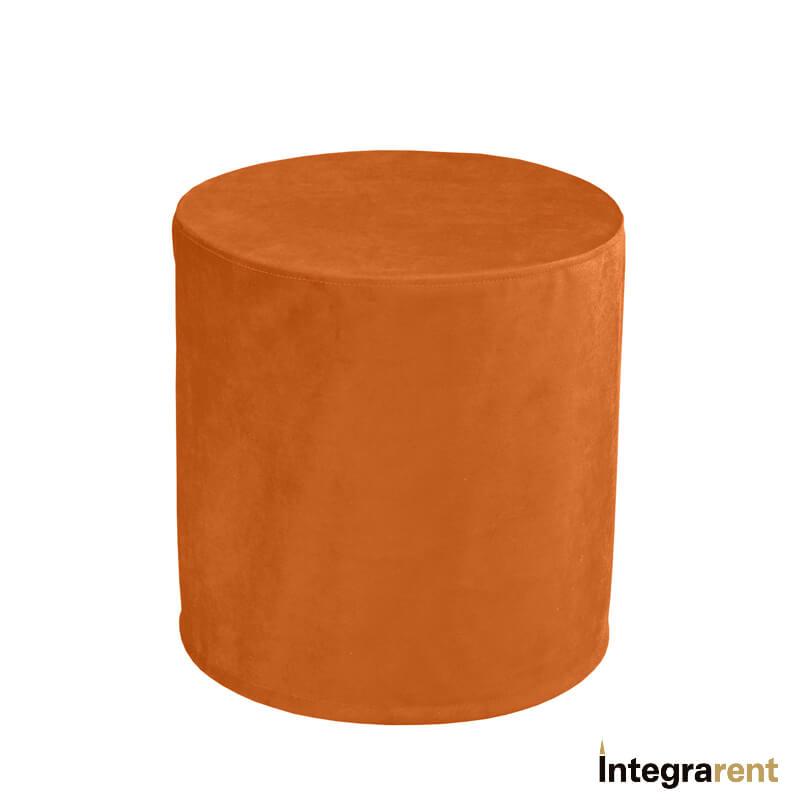 Noleggio Pouf Tondo Velluto Arancione