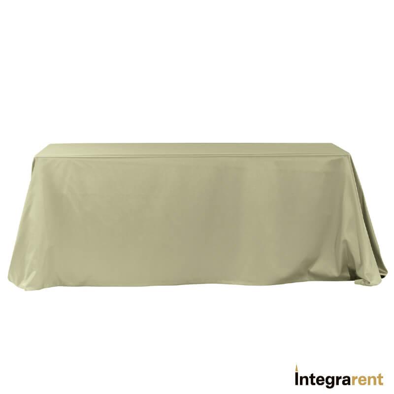 Noleggio Tovaglia Raso/Cotone cm.330x230 Verde Salvia