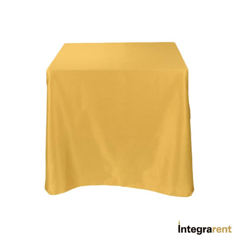 Noleggio Tovaglia Raso/Cotone cm.210x210 Oro