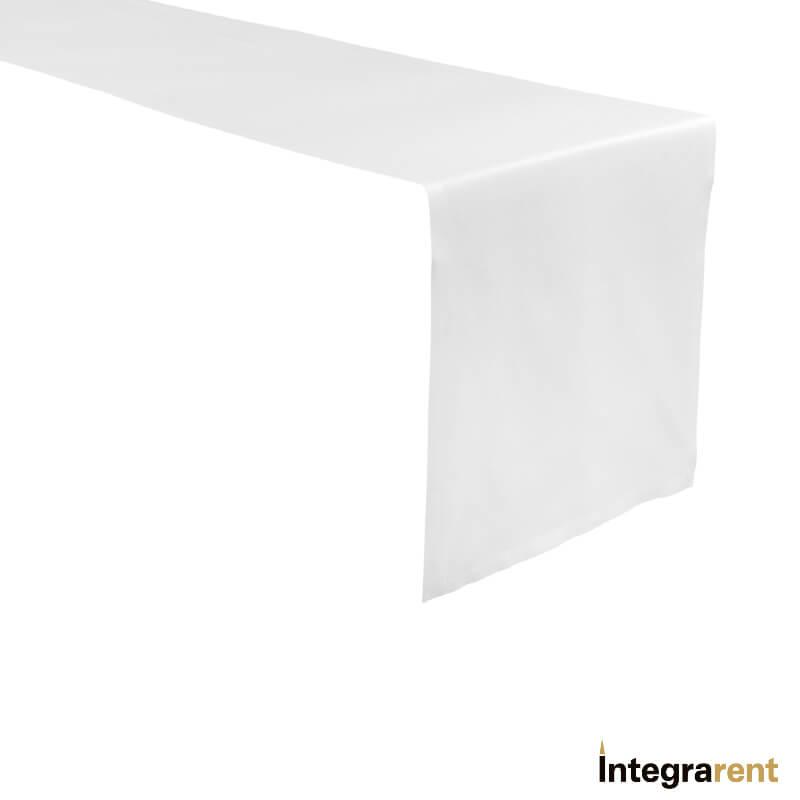 Noleggio Runner Cotone cm.200x40 Bianco