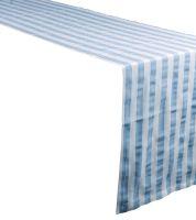 Noleggio Runner Cotone Riga Country cm. 45x145 Azzurro