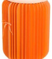 Noleggio Pouf Tondo Paper Orange