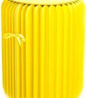 Noleggio Pouf Tondo Paper Yellow