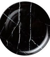 Noleggio Piatto Piano Black Stone Ø cm.28