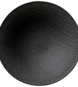 Noleggio Piatto Coupe Fondo The Rock Black Shale Villeroy & Boch Ø cm.29