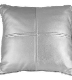 Noleggio Cuscino in Pelle Argento